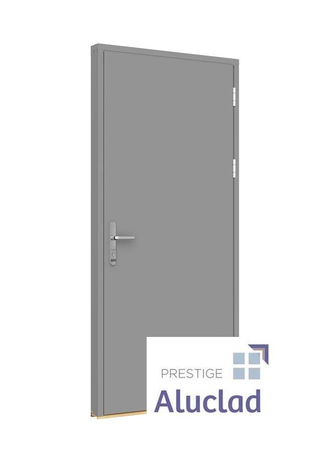 Panel door with Mila ProSecure handle
